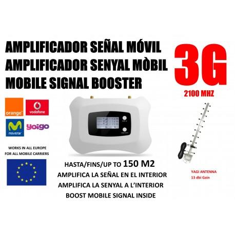 Amplificador de señal móvil 3G 2100 Mhz para Movistar Vodafone Orange