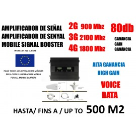 2G 3G 4G Triband mobile amplifier GSM 900 3G 2100 Mhz LTE 1800 Mhz for Movisar Vodafone Orange Yoigo
