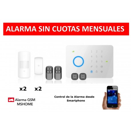 Alarma MSHOME G5 touch gsm sin cuotas 50z rfid kit