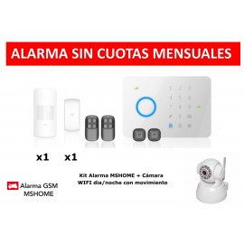 Alarma MSHOME G5 touch gsm no monthly fee rfid kit with ip camera