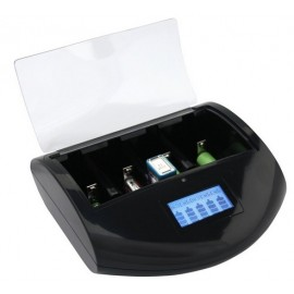 Battery charger for alkaline and rechargables AAA and AA type