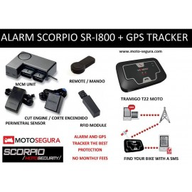 Scorpio Alarm SR-i800 RFID KIT (With PERIMETRAL SENSOR)