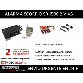 Scorpio Alarm SR-i500 with two way FM Remote