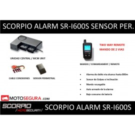Scorpio Alarm SR-i600 (With PERIMETRAL SENSOR) USED