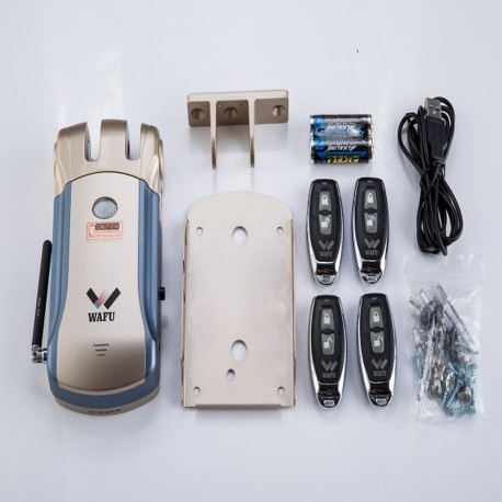 Wafu keyless invisible door lock with RF remote