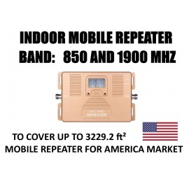 Mobile repeater 850 and 1900 Mhz for USA AMERICA and SOUTH AMERICA