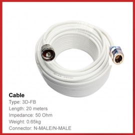 Cable de 20 M per Amplificador mòbil connector N Mascle-Femella