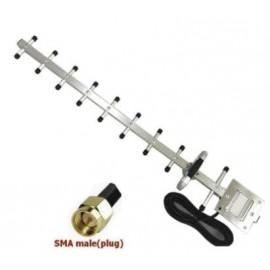 Antena exterior YAGI 13dBi 3G 4G 1710-2700 Mhz conector SMA-Male