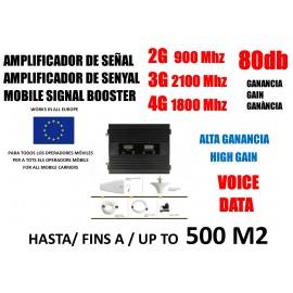 Amplificador de senyal mòbil 2G 3G GSM 900 2100 Mhz per a Movistar Vodafone Yoigo