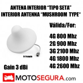 Ceilling Omnidirectional indoor Antenna for 900-2500 Mhz with N Male connector