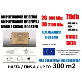 2G 3 G mobile amplifier GSM 900 and 2100 Mhz for Movisar Vodafone Orange