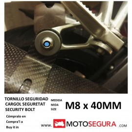 Security bolt for avoid robbery motorcycle exhaust
