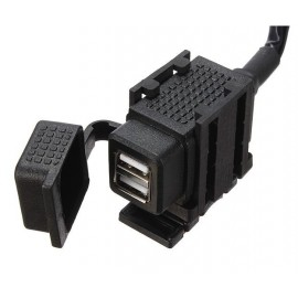 CARGADOR DOBLE USB 12V WATERPROOF MOTO