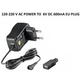 Wall Charger 120-220V 1A USB 6V (only for scorpio remote alarms)