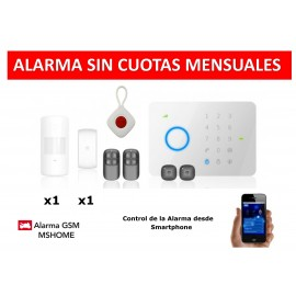 Alarma MSHOME G5 touch gsm no fee with panic button for older people