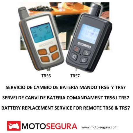 Mando Alarma Scorpio SR-i600 (Cambio Bateria/Battery Replacement)
