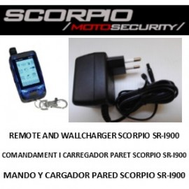 Remote control Scorpio Alarm SR-i900 RFID and wall charger