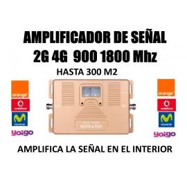 Amplificador de señal móvil 3G 2100 4G 1800 Mhz para Movistar Vodafone Yoigo