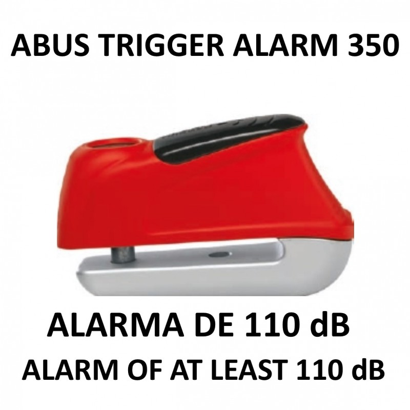 abus brake disk lock with 110 db sound alarm