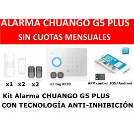Alarma CHUANGO G5 PLUS touch gsm no fees 50z rfid kit