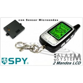 Car Alarm SPY F9S 2 Controls. Shock and Microwave Sensor and Remote Power